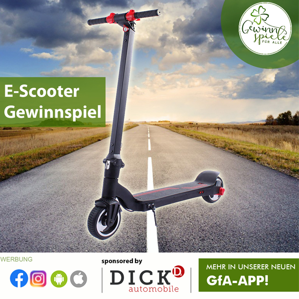 E-Scooter Gewinnspiel