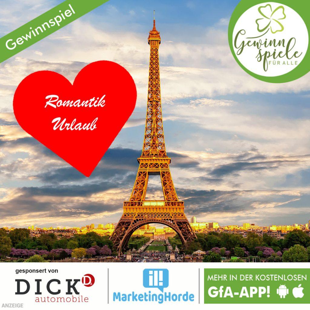 Romantik Urlaub in Paris Gewinnspiel