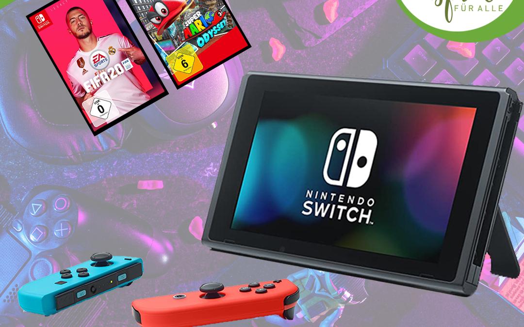 Nintendo Switch + Fifa 20 + Super Mario Odyssey Gewinnspiel